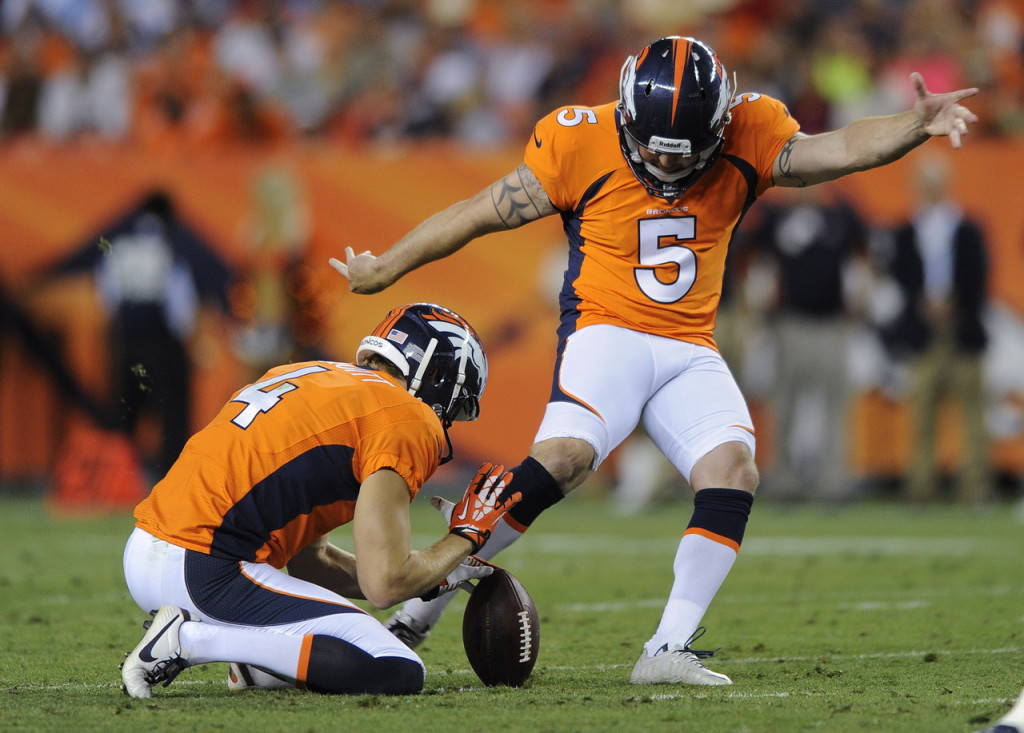Matt Prater headlines a strong Broncos Special Teams unit.