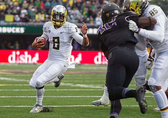 Marcus Mariota and the Ducks provided a lot of flash...but not much substance.